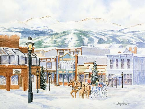 Main Street Breckenridge Watercolor